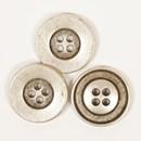Knoop 20 mm metaal zilver - 529
