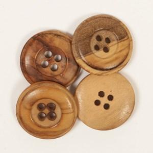 Knoop 20 mm gebrand hout - 511