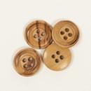 Knoop 15 mm gebrand hout  - 513