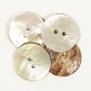 Knoop 20 mm (32) parelmoer M/gaatje - 522
