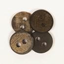 Knoop 20 mm buffelhoorn donker - 535
