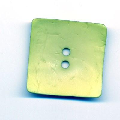 Knoop 45 mm Dill vierkant lime groen op=op