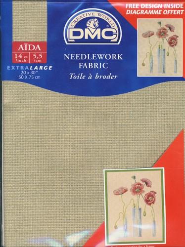Aida linnen 842 DMC55 a 50 a 68 op=op