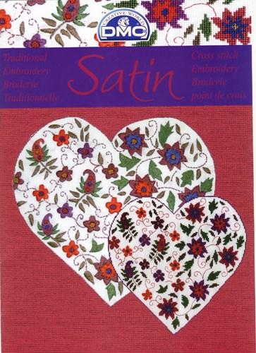 Satin - paisley met bloemen iets beschadigd op=op