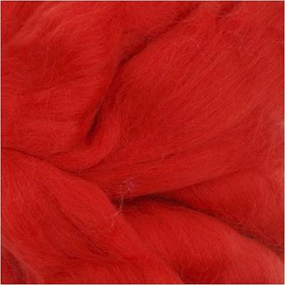 Merino viltwol 19 rood 95 gram