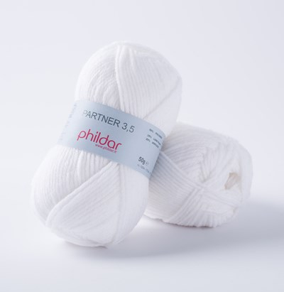 Phildar Phil Partner 3,5 Blanc 1225 - 10