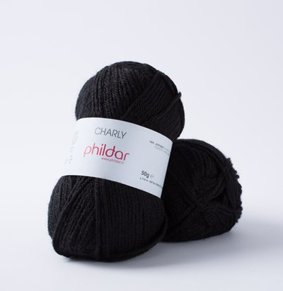 Phildar Charly Noir 0067 - 1200 - zwart