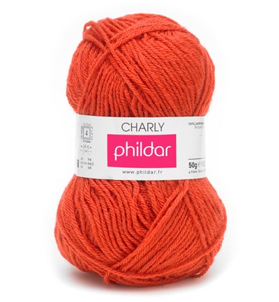 Phildar Charly Capucine 0003 - oranje rood op=op