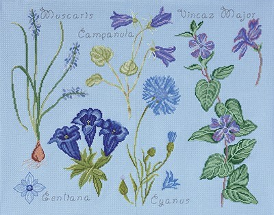 DMC No 2 14561g fleur & botanique - gentiane et campanule
