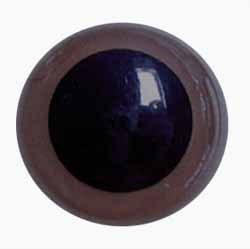 50 paar ca Ogen 10 mm bruin met zwarte pupil