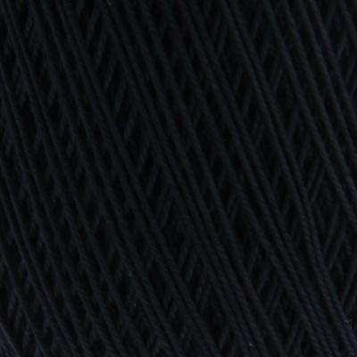 Lammy Yarns Coton crochet 001 zwart