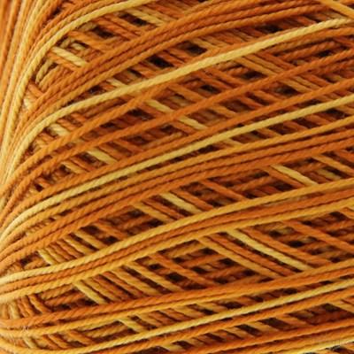 Lammy Yarns Coton crochet 413 oranje gemeleerd