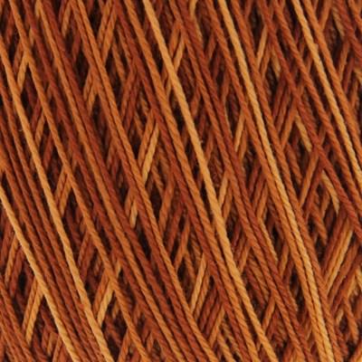 Lammy Yarns Coton crochet 414 donker oranje gemeleerd