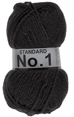 Lammy Yarns No 1 001 Zwart
