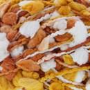 Lammy Yarns Pon Pon 608 wit oranje