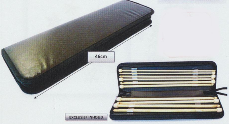 Breinaaldetui zwart 46 cm exc naalden for Boeken opbergsysteem
