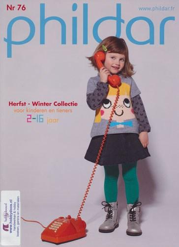 Phildar nr 76 herfst winter voor kinderen en tieners (op=op)