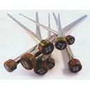 Breinaalden met knop nr 6 (40 cm) - metaal Nova