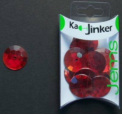 Ka-Jinker jems - facet rond - red