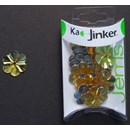 Ka-Jinker jems - facet flower - gold