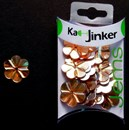 Ka-Jinker jems - facet flower - orange