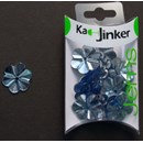 Ka-Jinker jems - facet flower - light blue