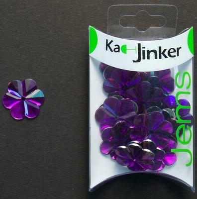 Ka-Jinker jems - facet flower - purple