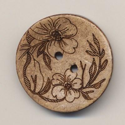 Knoop 25 mm kokos bloem - 564540