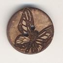 Knoop 20 mm kokos vlinder