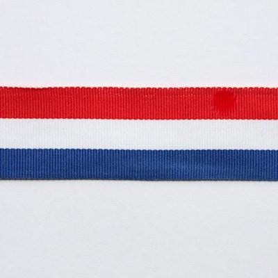 Lint 10 mm streep rood wit blauw per meter