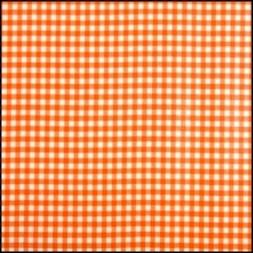 Lint 15 mm ruit oranje - wit per meter