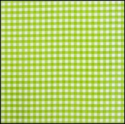 Lint15 mm ruit groen - wit per meter