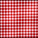Lint 10 mm ruit rood - wit (per meter)