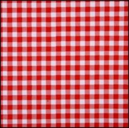 Lint 10 mm ruit rood - wit per meter