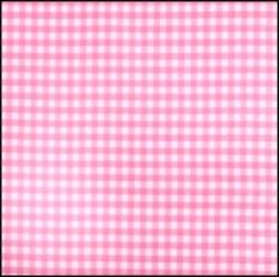 Lint 15 mm ruit zacht roze - wit per meter