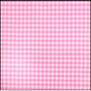 Lint 10 mm ruit roze - wit (per meter)