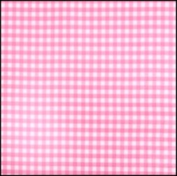 Lint 10 mm ruit roze - wit per meter
