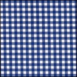 Lint 10 mm ruit blauw - wit per meter
