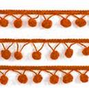 Bolletjesband 15 mm oranje 683 (per meter) (op=op)