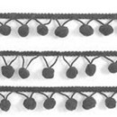 Bolletjesband 10 mm grijs (per meter) (op=op)