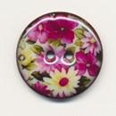Knoop 24 mm met bloem (op=op)
