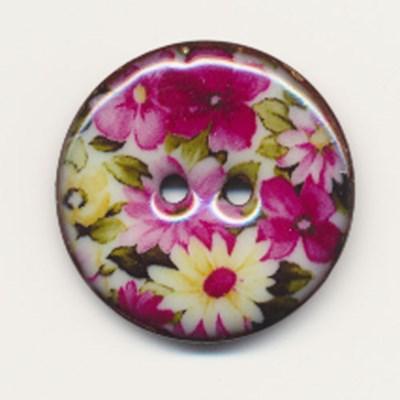 Knoop 24 mm met bloem