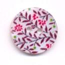 Knoop 16 mm blad met bloem - 2596242