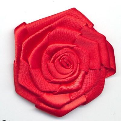 bloem satijn 60 mm - rood 1 stuk op=op