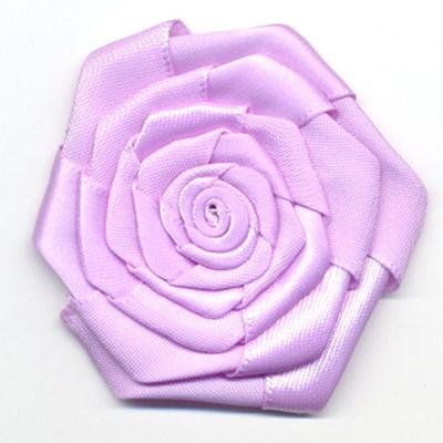 bloem satijn 60 mm - lila 1 stuks op=op