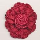 bloem koord 60 mm - donker rood (1 stuks)(op=op)