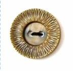 Knoop 35 mm goud - 2558 op=op