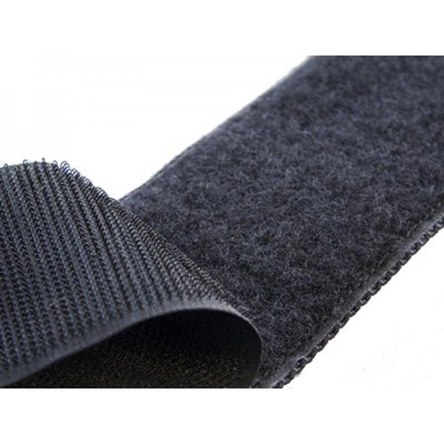 Klittenband zelfklevend zwart 2 cm per 50 cm