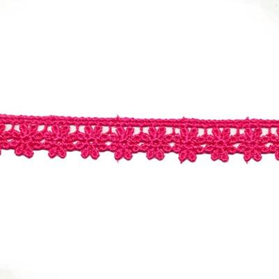 Kant bloem met rand 0030 pink 15 mm per meter