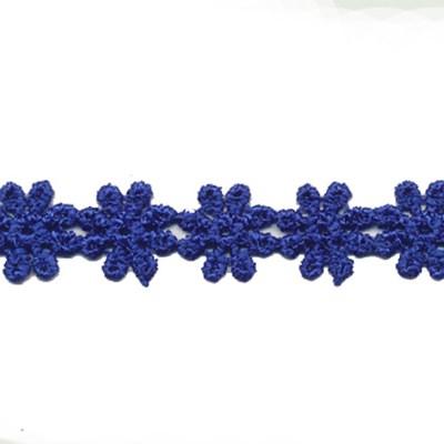 Kant bloem 0040 kobalt blauw 14 mm per meter